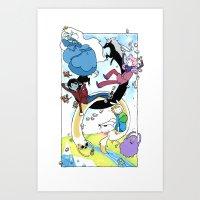 Grab your friends Art Print