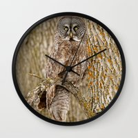 camouflage Wall Clocks featuring Camouflage by owlgoddessphotography