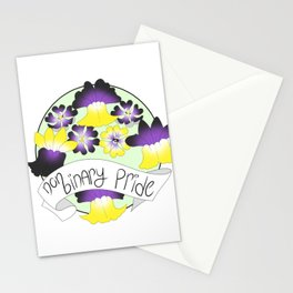 Non-Binary Pride Flowers Stationery Cards