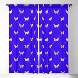 Golden flutterbye on cornflower. Blackout Curtain