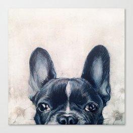 Hand painting French Bulldog Dog illustration original painting print Canvas Print