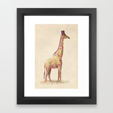 Fashionable Giraffe Framed Art Print