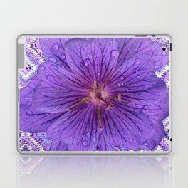LILAC PURPLE FLORAL & PURPLE GEOMETRIC Laptop & iPad Skin