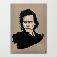 nick cave Canvas Prints featuring Nick Cave  by Philipp Banken