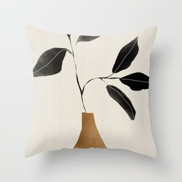 minimal plant 6 Throw Pillow
