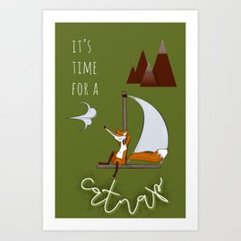 Time for a catnap Art Print