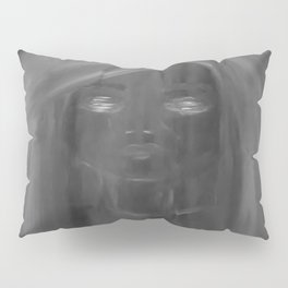 Invisible by Lu, black-and-white Pillow Sham
