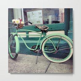 Old Battered Bike Metal Print