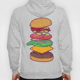 Vegan Burger Anatomy (No Words) Hoody