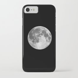 Full Moon print black-white photograph new lunar eclipse poster bedroom home wall decor iPhone Case
