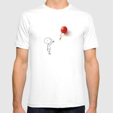 Grape balloon White MEDIUM Mens Fitted Tee