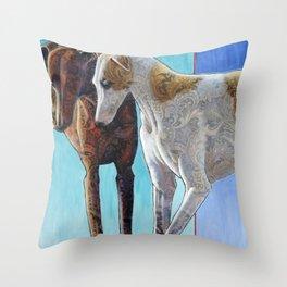 Paisley Paws de Deux Throw Pillow