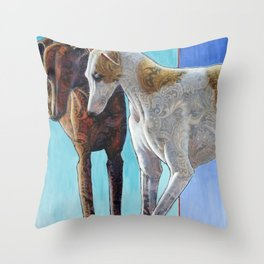 Paisley Paws de Deux Throw Pillow