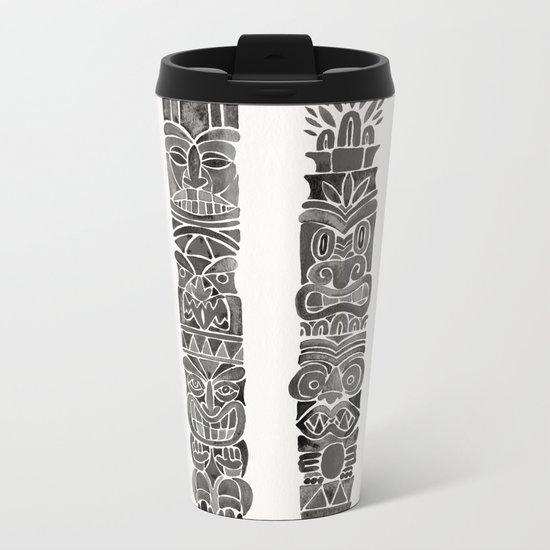 Tiki Totems – Black Metal Travel Mug