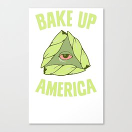 BAKE UP AMERICA T-SHIRT Canvas Print