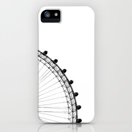 The Ferris Wheel (Black and White) iPhone Case