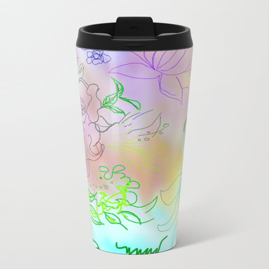 abstract composition Metal Travel Mug