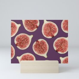 big Figs Pattern violet Mini Art Print