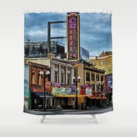 theater Shower Curtains featuring Orpheum Theater by gypsykissphotography