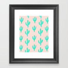 Cactus Print Framed Art Print