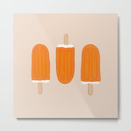Orange Cream Bar Metal Print