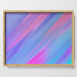 SLOW AIR - Abstract Digital Image Texture Glitch Art Serving Tray