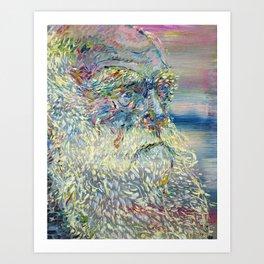 CHARLES DARWIN oil portrait.2 Art Print