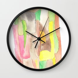 171013 Invaded Space 9|abstract shapes art design |abstract shapes art design colour Wall Clock