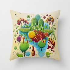 Dripping Drops Throw Pillow