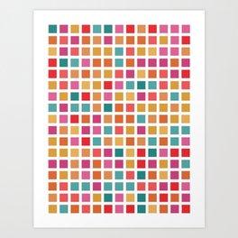 City Blocks - Sunrise #910 Art Print