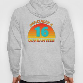 16th Birthday Officially a Quaranteen Teenager 16 Years Old Hoody