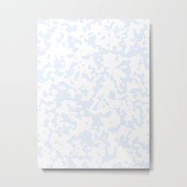 Spots - White and Pastel Blue Metal Print