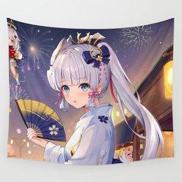 Kamisato Ayaka Genshin Impact Wall Tapestry