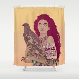 Falcon Lady Shower Curtain