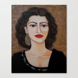 Amalia Rodrigues – Music born in the soul Canvas Print