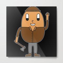 Egg Lumberjack Metal Print