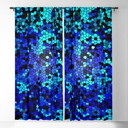 STAINED GLASS BLUES Blackout Curtain