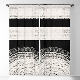 Nordic balck and white abstract Blackout Curtain