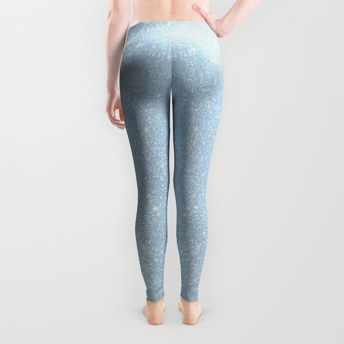 Pastel Blue Glitter Leggings