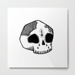 Sad Skull Metal Print