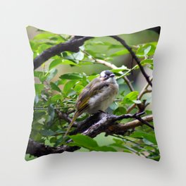 Bird in a Tree Throw Pillow
