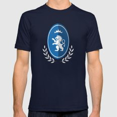 DETFC (Italian) X-LARGE Mens Fitted Tee Navy