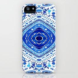 Indigo Mandala Tapestry Pattern 2 iPhone Case