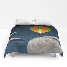 Picnic in a Balloon on the Moon Comforters