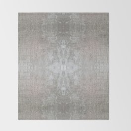 Silver Velvet Snake Pattern Throw Blanket