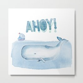 Ahoy! from a Sperm Whale Metal Print