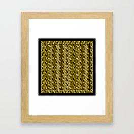Greek Key Full - Gold and Black Framed Art Print