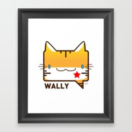 Convo Cats! Wally Framed Art Print