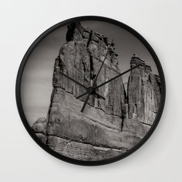 B&W Courthouse rock Wall Clock