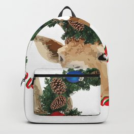 Buon Natale - italiano Merry Christmas Deer Backpack